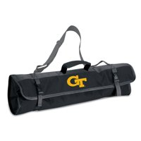 Picnic Time 3-Piece BBQ Tote With Printed Collegiate Football Team Logo