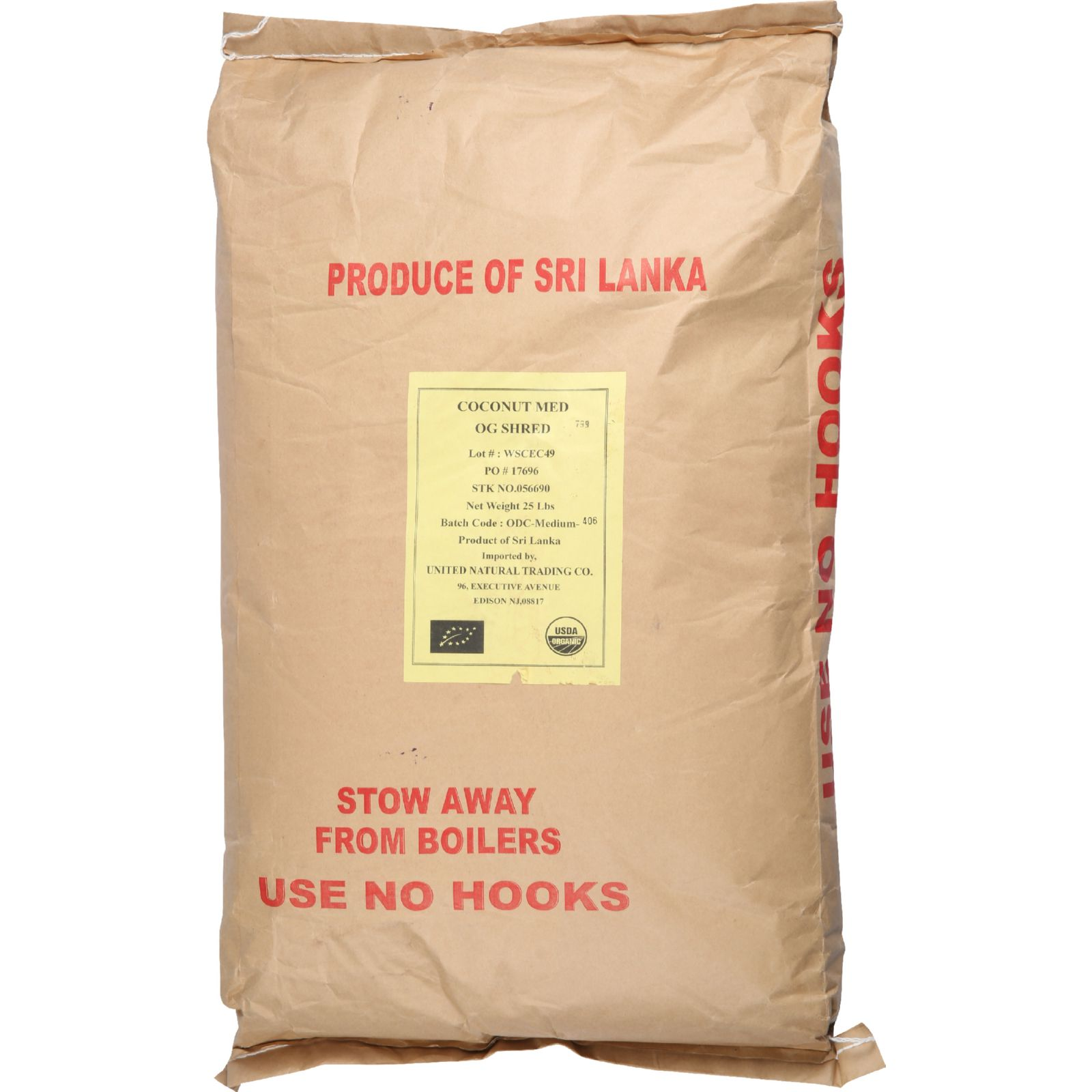 Bulk Dried Fruit Coconut Organic Dried Shredded Medium Unsulphured 1 lb case of 25 by Bulk Dried Fruit