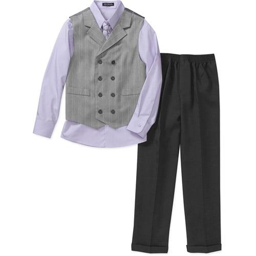 George Ge Boys Heather Stripe Dress Set-sz4