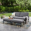 Mainstays Moss Falls 3-Piece Outdoor Sofa-Daybed Set
