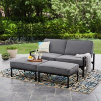 3-Piece Mainstays Moss Falls Outdoor Sofa-Daybed Set