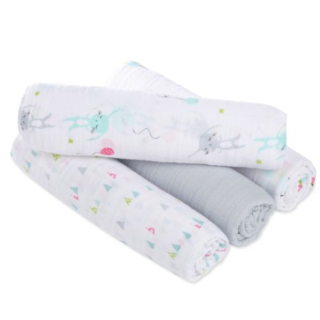 Aden by aden + anais Swaddleplus Baby Swaddle Blanket, 100% Cotton Muslin, (Anais Cotton Muslin)
