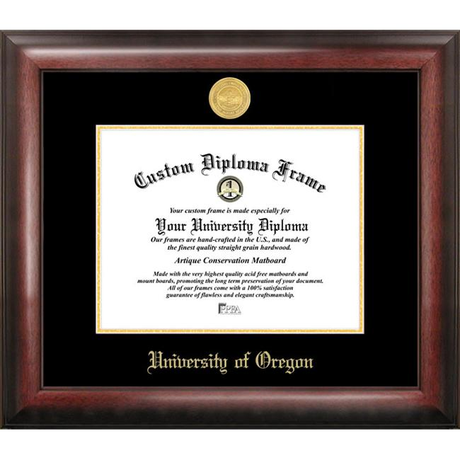 University of Oregon Gold Embossed Diploma Frame