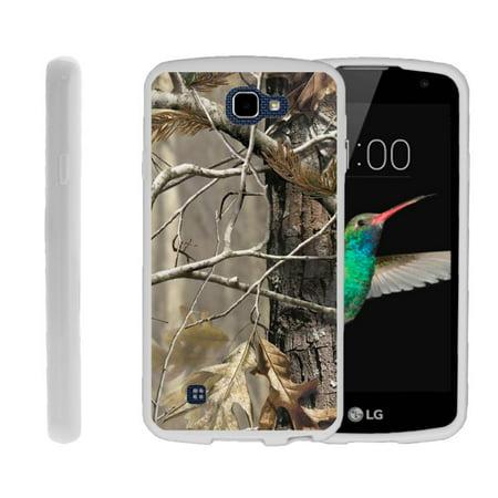 - LG K4, LG Rebel LTE, LG Spree, LG Optimus Zone 3, Flexible Case [FLEX FORCE] Slim Durable TPU Sleek Bumper with Unique Designs - Tree Bark Hunter Camouflage