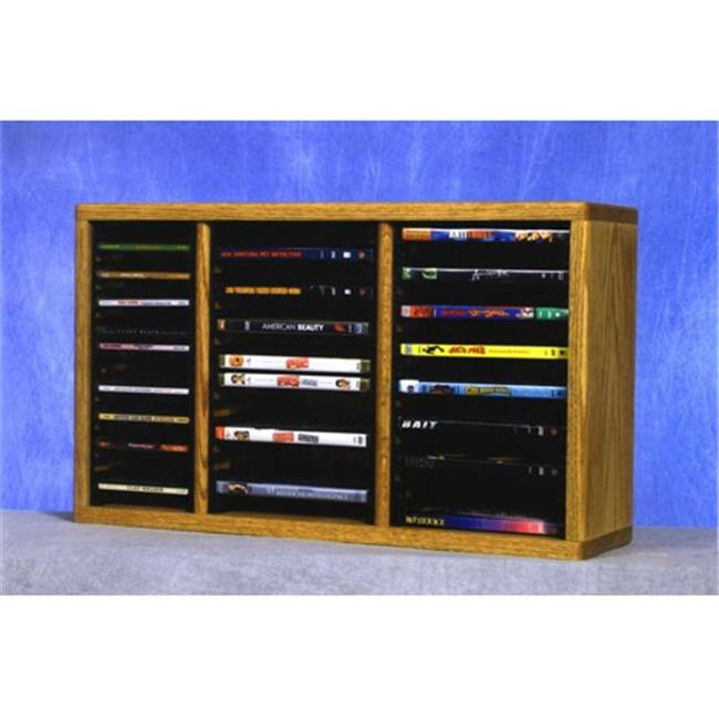 Wood Shed 313-1 CD-DVD Solid Oak desktop or shelf for CDs and DVDs - Individual Locking Slots