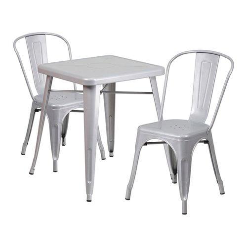 Williston Forge Guarino Indoor/Outdoor 3 Piece Dining Set