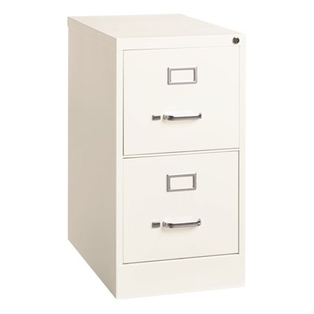 Hirsh 25 in Deep 2 Drawer Letter Size Vertical File Cabinet in White