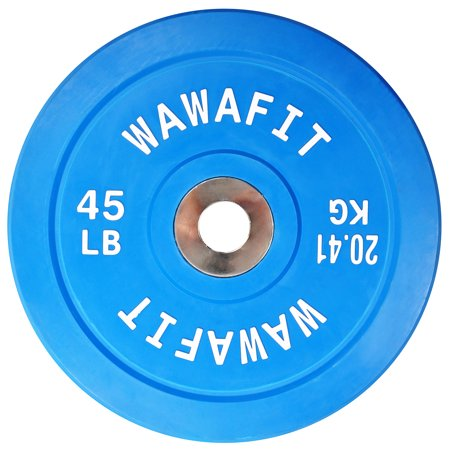 Everyday Essentials Color Coded Olympic 2-Inch Rubber Bumper Plate with Steel Hub for Strength Training, Weightlifting and Crossfit, Single