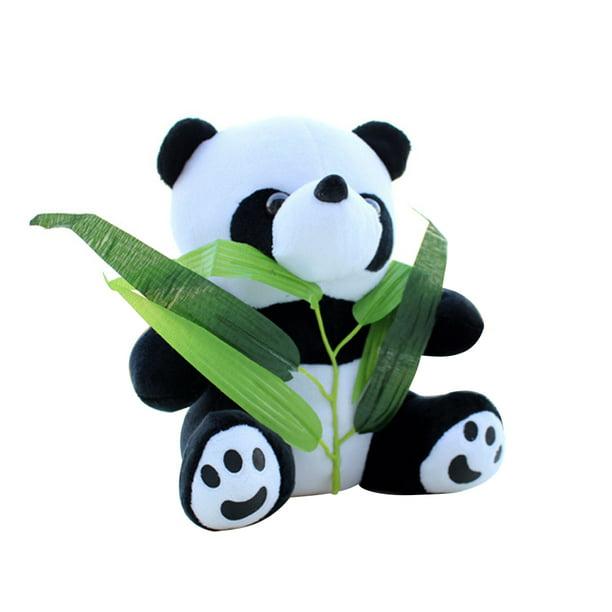 Cute Cartoon Stuffed Panda With Bamboo Soft Plush Toy Stuffed Animal Toy Doll Gift For Kids Style 1 Walmart Com Walmart Com