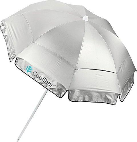 coolibar upf 50+ 6' titanium beach umbrella - sun protect...