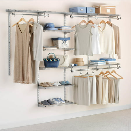 Rubbermaid Configurations Closet Kits, 4'-8', Deluxe, Titanium ()