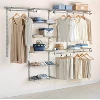 Rubbermaid Configurations Closet Kits, 4'-8', Deluxe, Titanium