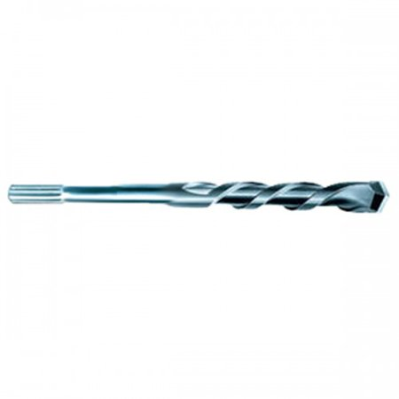 1/2 Inch x 18 Inch Spline Shank Carbide Tipped Drill Bit