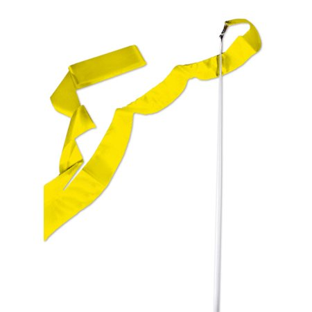 Yellow Gymnastics Ribbon Wand (Cheap Ribbon Wands)