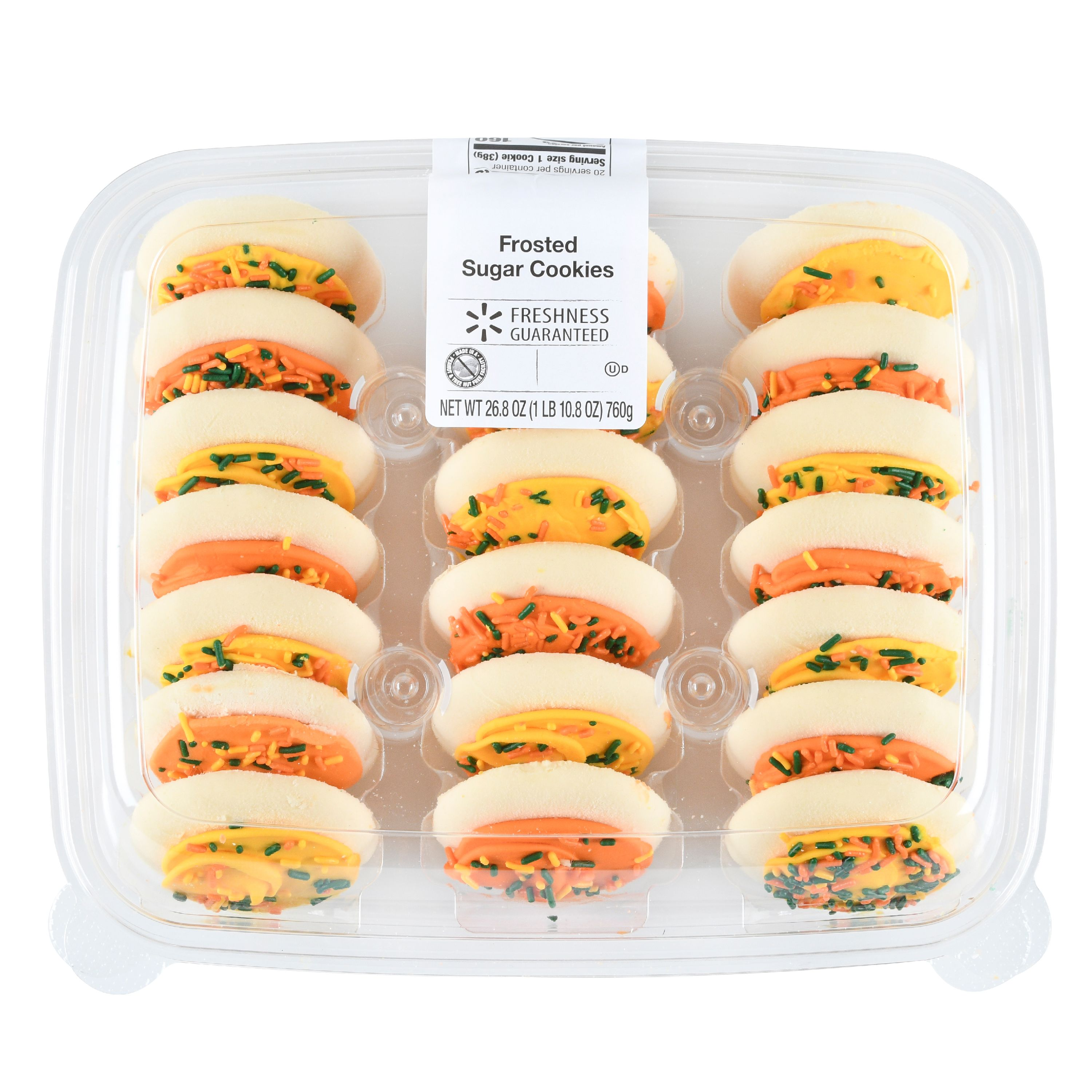 Freshness Guaranteed Harvest Frosted Sugar Cookies, 26.8 oz, 20 Count