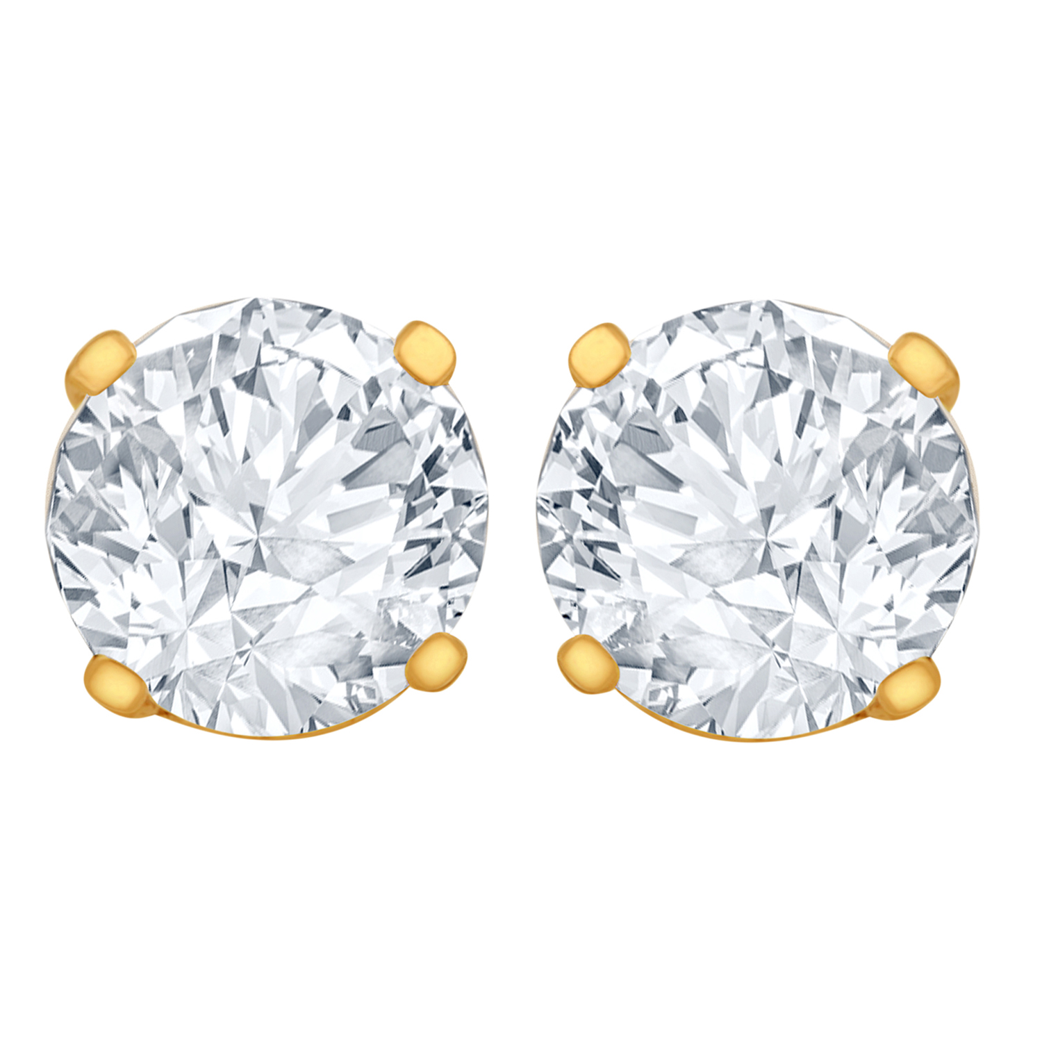 1/4 Carat Diamond Stud Earrings (I2I3 Clarity, JK Color) 14kt Yellow Gold