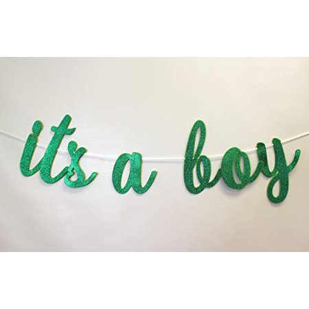 All About Details It's A Boy Cursive Banner, 1set, Baby Shower Party Decoration, Baby Shower Photo Backdrop - Boy Party Decorations