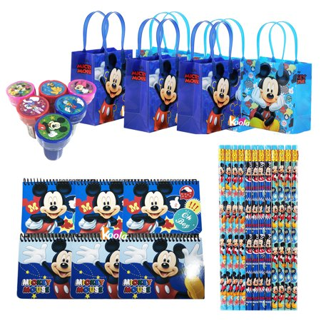 6 sets Disney Mickey Mouse Birthday Party Supply Favor Gift Bags Stamper - Disney Gift Bag