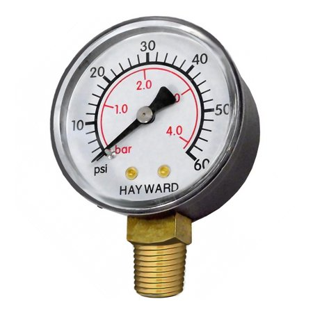 Hayward ECX270861 Bottom-Mount Pressure Gauge Replacement for Pool Filter Systems