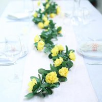BalsaCircle 6 ft 3D Chain Silk Roses with Greenery Garland - DIY Home Wedding Arch Mantel Party Home Decorations