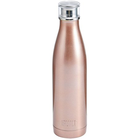 BUILT Perfect Seal 25 Oz Rose Gold Double Wall Stainless Steel Bottle