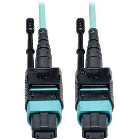 Tripp Lite N844-01M-8LC-PT Tripp Lite 1M Fan-out Cable Push / Pull Tab MTP/MPO to 8 x LC - 40Gbase OM3 Plenum Aqua 3ft