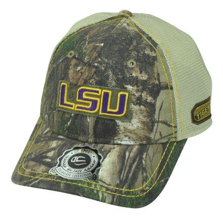 79372acbbb2c9 NCAA Louisiana State LSU Tigers Real Tree Camouflage Camo Mesh Hat Cap  Trucker - Walmart.com