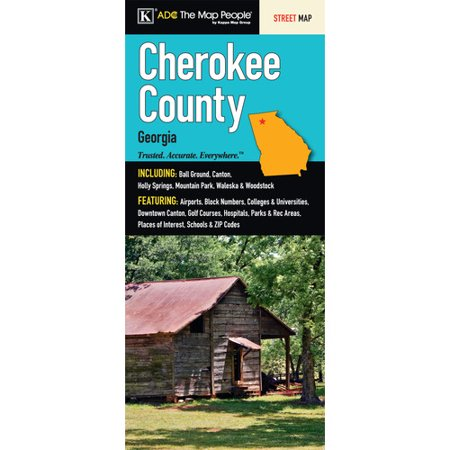 Universal Map Cherokee County Georgia Fold Map  Set Of 2