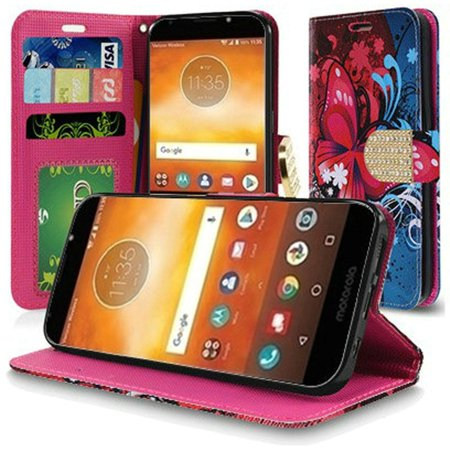 3be1fb6ef29e Motorola Moto E5 Plus case Moto E5 Supra case by HR Wireless Butterfly  Bliss Folio Leather