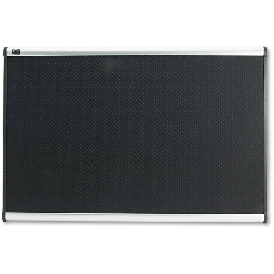 Quartet Embossed Bulletin Board, Hi-Density Foam, Black, Aluminum Frame by ACCO BRANDS