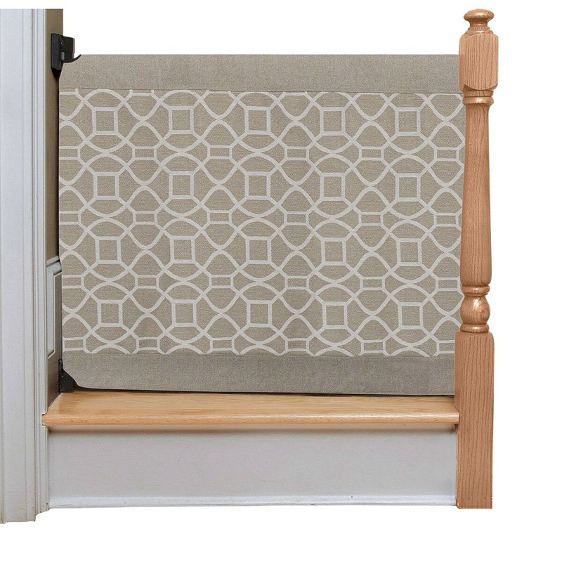 The Stair Barrier to Wall Safety Gate Beige Geo by The Stair Barrier