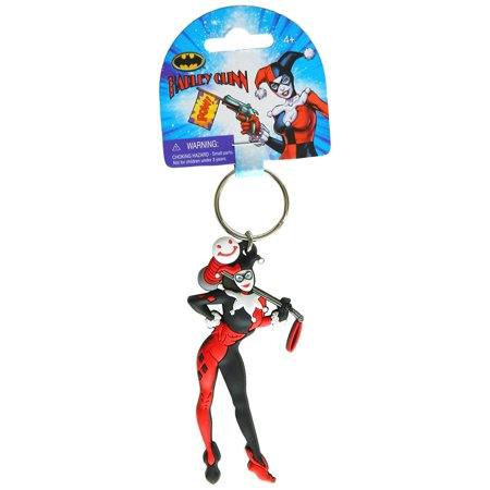 Harley Quinn PVC Soft Touch Figural Key Ring Action Figure, Lightweight and durable PVC plastic By DC (Japan Figural)