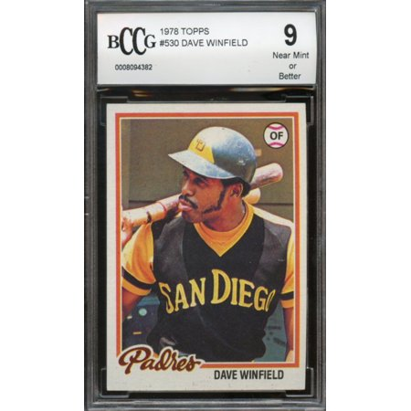 1978 topps #530 DAVE WINFIELD padres BGS BCCG