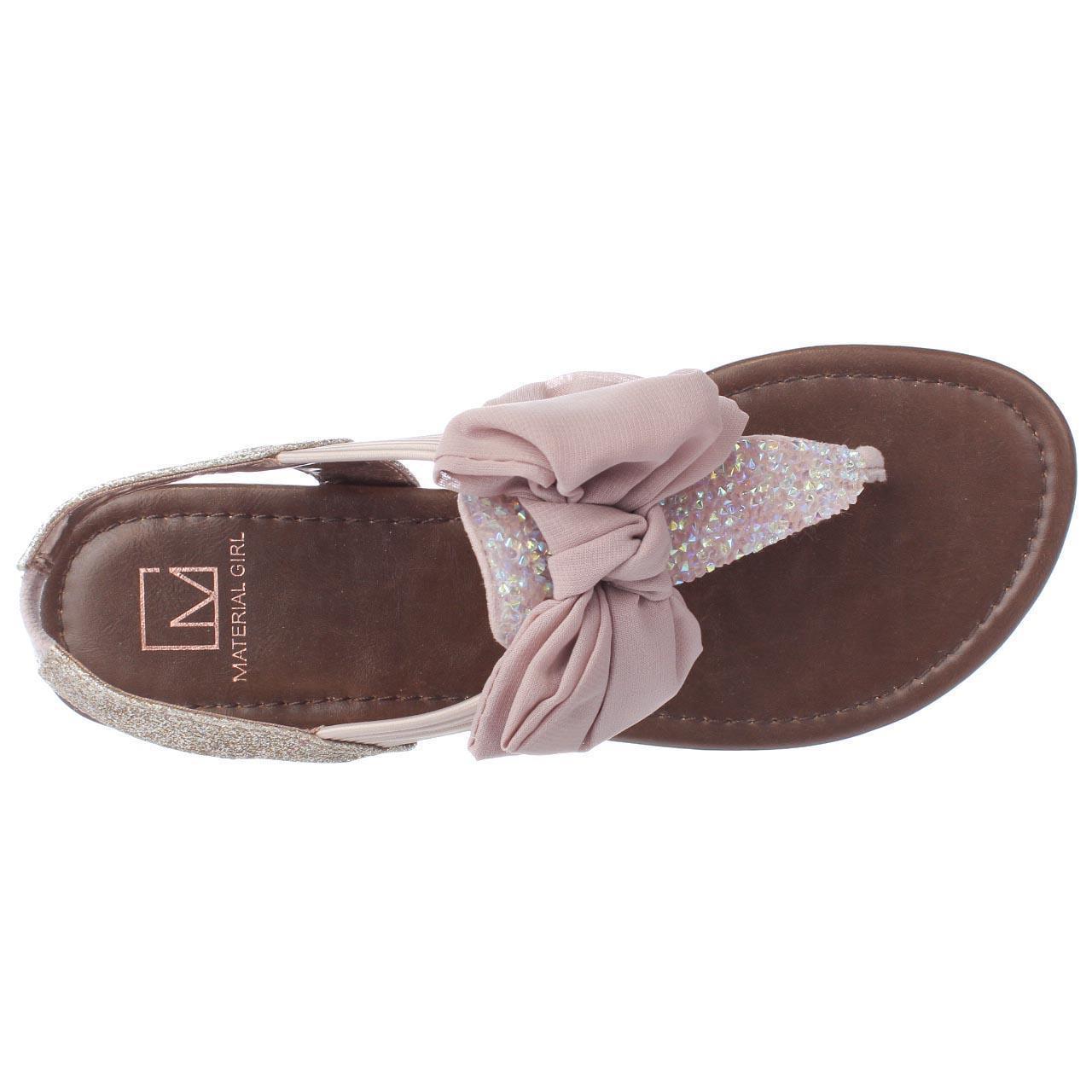 Womens MG35 Swan Bow T-Strap Sandals - Blush