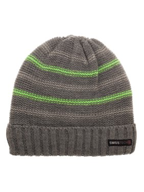 a709aed07bc6a Product Image Swiss Tech Youth Charcoal Striped Cuffed Beanie with  Thinsulate M-80 Lining for Added Warmth
