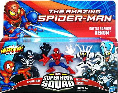 The Amazing Spider-Man Super Hero Squad Battle Against Venom Mini Figure 3-Pack by