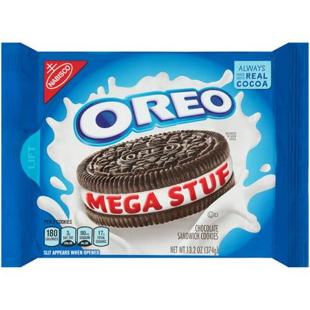Nabisco  Oreo  Mega Stuf Chocolate Sandwich Cookies 13 2 Oz  Tray