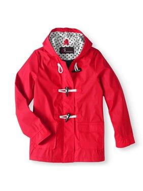 I5 Apparel Girl's waxie toggle rain slicker jacket (big girls)