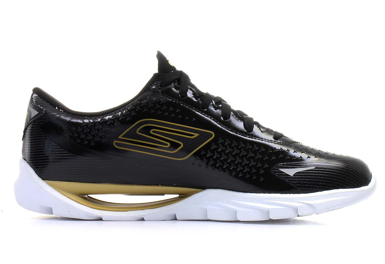 Skechers Men's Go Meb KRS Running Shoes-Black/Gold-7