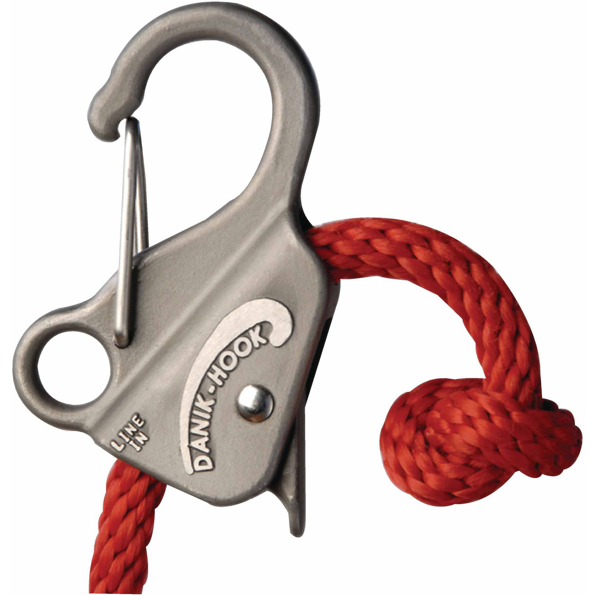"Slide Anchor Stainless Steel Danik Hook For 3/8"" to 5/8"" Line, Holds Up to 8,000 lbs"