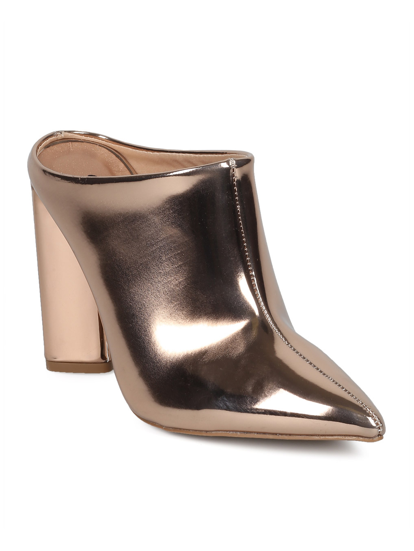 Women Pointy Toe Single Sole Block Heel Mule HD22