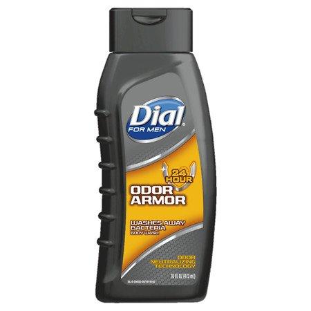 Dial for Men Antibacterial Body Wash, 24 Hour Odor Armor 16 fl oz(pack of