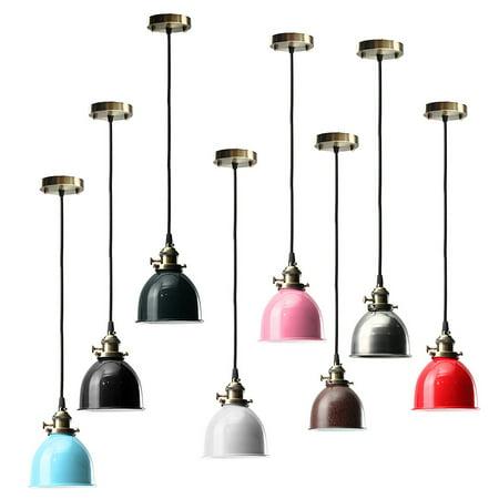 Three Light White Ceiling Pendant (KingSo E27 Retro Vintage Ceiling Lamp Holder Pendant Light Pendant Light Holder Hanging Shape Cafe Bar Fixture US)