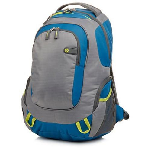 F4F29AA#ABL 15.6 Outdoor Sport Backpack, Blue/Green