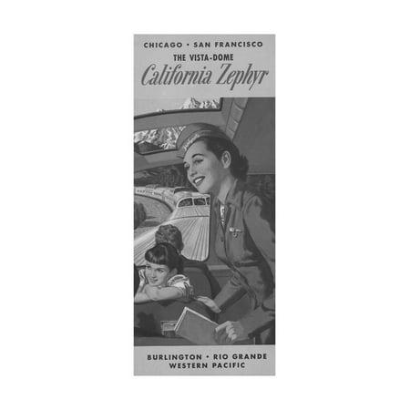 The Vista Dome California Zephyr Brochure Print Wall - California Zephyr Vista Dome