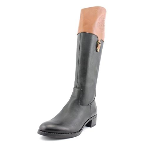 Franco Sarto Clarity Women Round Toe Leather Black Knee High Boot by Franco Sarto