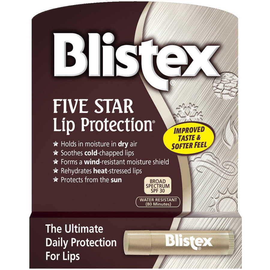 Blistex Five Star Lip Balm, SPF 30 Protection, .15 oz