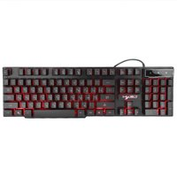FAGINEY 3 Colors Glow LED USB Backlit Wired Gaming Keyboard Ergonomic Design for Computer Mac PC, Wired Keyboard, Wired Gaming Keyboard