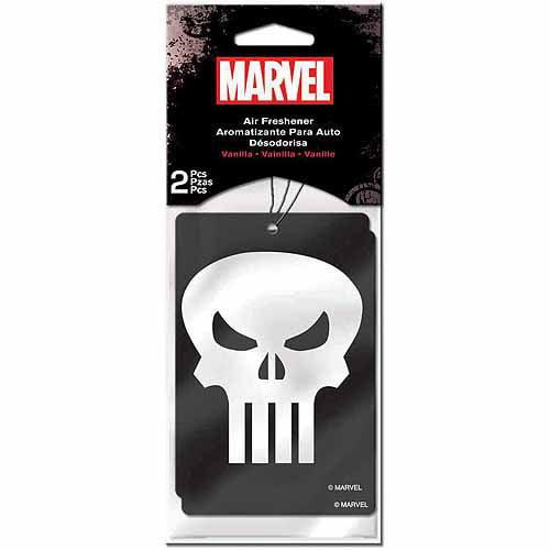 Plasticolor Marvel Punisher Air Fresheners, 2-Pack