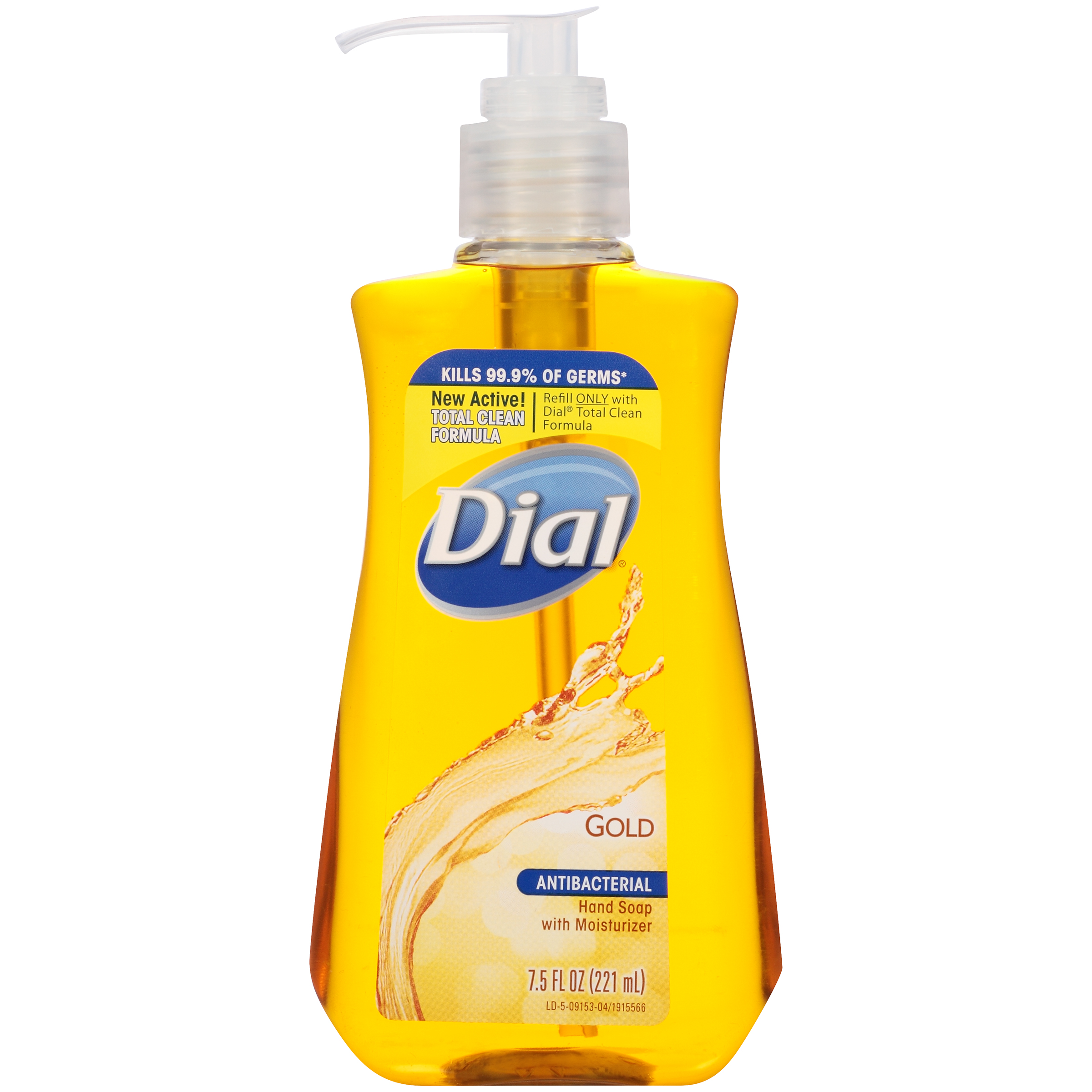 Dial Antibacterial Liquid Hand Soap with Moisturizer, Gold, 7.5 Ounce